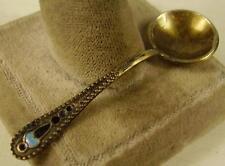 Antiker seltener 875 Silber Löffel Russland mit Emaile