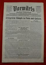 VORWÄRTS (7. Oktober 1914): Erfolgreiche Kämpfe in Polen und Galizien