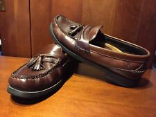 """Sperry Top Sider Men's Loafers, SZ 8 1/2M, Brown Leather, Tassels, """"Boat"""" Logo"""