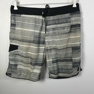 Analog mens board shorts size 33 white striped tie up