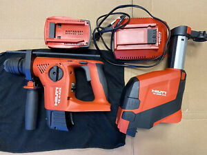 HILTI TE4-A22 Rotary Hammer w/ DRS-4-A Dust Extractor, Charger & 2.6Ah  Battery