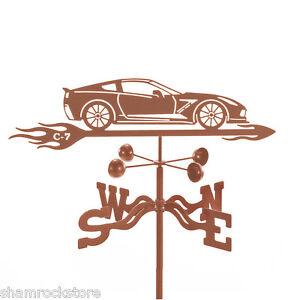 Chevy Corvette C7 Weathervane, Chevrolet Car, 'Vette Vane with Choice of Mount