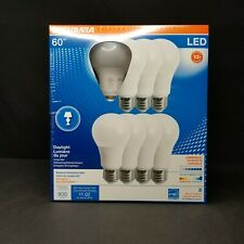8 Sylvania 60w LED A19 Light Bulbs Daylight 800 Lumens Dimmable Energy Star New