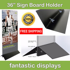 """36"""" Wide Sign Board Display Holder for Foamcore and other Business Signs"""