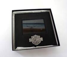 harley davidson leather picture frame mirror (Black Mirror)