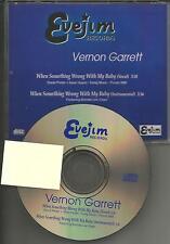 VERNON GARRETT & BRENDA LEE EAGER When Something w/ INSTRUMENTAL PROMO CD Single