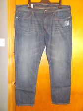"M&S Tapered Leg 100%Cotton Denim Jeans W42"" L29"" Indigo BNWT"