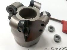 "2"" face mill R200, 4 Sandvik RCKT1204 Round inserts #506-R200-2"