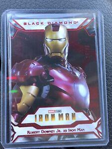 2021 Upper Deck Marvel Black Diamond Robert Downey Jr. as Iron Man Red SSP /35