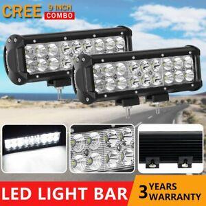 """Pair 9"""" inch 180W CREE LED Light Bar Spot Flood Combo Work Driving Truck 12V24V"""
