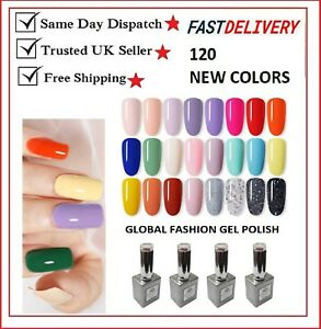 Global Fashions UV LED Nail Gel Polish Soak off Varnish Base Top Color Coat 15ml