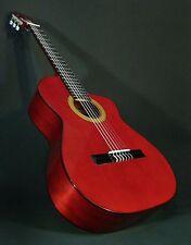 CUTAWAY CLASSICAL SPANISH GUITAR. SPRUCE & ETIMOE IN RED.  AZAHAR (SPAIN)