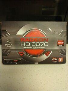 XFX AMD Radeon HD 6670 HD-667X-CD 2GB DDR3Graphics Video Card HDMI Display Port