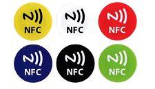 6 RFID NFC Tags Sticker NXP NTAG 213 rund 30mm bunt Aufkleber Handy