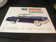 Original 1952 Mercury Monterey Sales Brochure