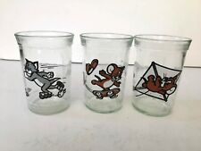 3-Welch's Tom & Jerry glasses(Tom/Skating, Jerry/Kiting, Jerry/ Skateboard) 1990