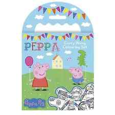 PEPPA PIG MINI CARRY LUNGO DA COLORARE SET PASTELLI Picture Book Travel Kit George