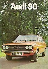 Audi 80 Saloon 1975-76 UK Market Foldout Sales Brochure 1300 L 1600 LS GL