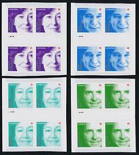 Canada 2550-3 Gutter pair Blocks MNH Hansen, Fox, Arbour, Watt-Cloutier