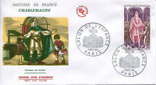 FRANCE FDC - 587A 1497 1 CHARLEMAGNE SALON DE L'ENFANCE- 5 Novembre 1966 - LUXE