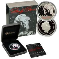 2012 $1 Marilyn Monroe 1oz .999 Proof Silver Coin Perth Mint in Original Box COA