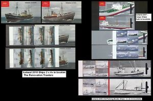 Iceland 2005/07/10 MNH - 4 Different Booklets, Ships & Boats