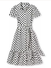 Lisa Marie Hernandez For Target Size Xx Small Polka Dot Shirt Dress New (other)