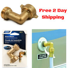 90 Degree Hose Elbow RV Garden Marine Faucet Water Supply Connector Brass Camco