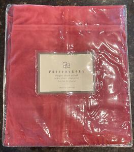 Pottery Barn MEGAN Short Velvet Side Chair Slipcover Cardinal Red Rouge Cotton