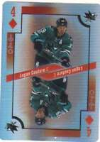2017-18 O-Pee-Chee Hockey Foil Playing Cards #4-DIAMONDS Logan Couture Sharks
