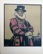 William Nicholson (1872-1949) 1st edition 1898 lithograph 'Beefeater'