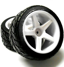 2500008 1/10 Scale RC Buggy Street Wheel and Tyre 2 Rear White 5 Spoke