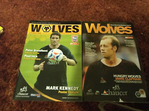 Wolves Football Programmes Bundle x2