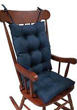 The Gripper Non-Slip Omega Jumbo Rocking Chair Cushions, Indigo