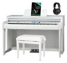 88 Keys Digital E-Piano Piano Keyboard 1200 Sounds Bluetooth White Set Bench