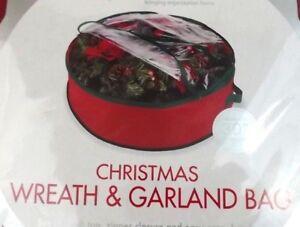 Whitmor 30 Inch  Christmas Garland Wreath Storage Bag Zippered Handles NIP