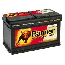 Banner Running Bull 58001 AGM 12v/80ah batteria di avviamento/Caravan/boot/NUOVO
