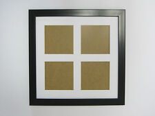 Black 14x14 Square Multi Aperture Picture Photo Frame  5x5 Photos