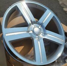 28 Inch Silver Amp Machined Texas Edition Rims Wheels Replica G03 258 22 24