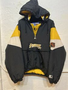 Vintage Starter Pittsburgh Penguins NHL pullover 1/2 Zip Jacket Size Youth XL