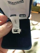 Montana Silversmith Stirrup bling silver ring size 8