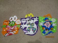 McDonalds Halloween Trick or Treat Vinyl Bags (1990) - Glow in the Dark- Set of