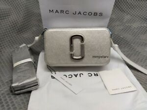 HOT MARC JACOBS Snapshot Small Camera Bag DTM metallic silver bag sales