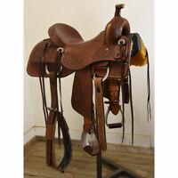 "New! 15.5"" HR Saddles Custom Ranch Cutting Saddle Code: HR155RANCUT78FL"