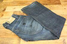 Men's G-STAR ARMY RADAR STRAIGHT Button Fly Dark Blue Jeans Size W27 L32