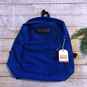 Jansport Superbreak Regal Blue Backpack Nwt