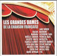 LES GRANDES DAMES DE LA CHANSON FRANCAISE (CD 2015) Dalida Jane Birkin Piaf Kaas