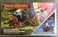 Vintage Tyco Dino Riders Protoceratops with Kanon Heroic Dino-Rider