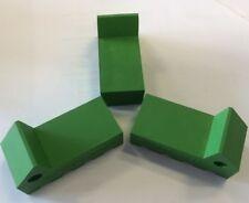RubberXpress HEAVY-DUTY Green coloured Rubber Flower Pot Feet  - 6 pack