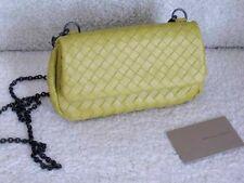Bottega Veneta AUTH NWT Detachable Gunmetal Chain Intrecciato Crossbody Luteous
